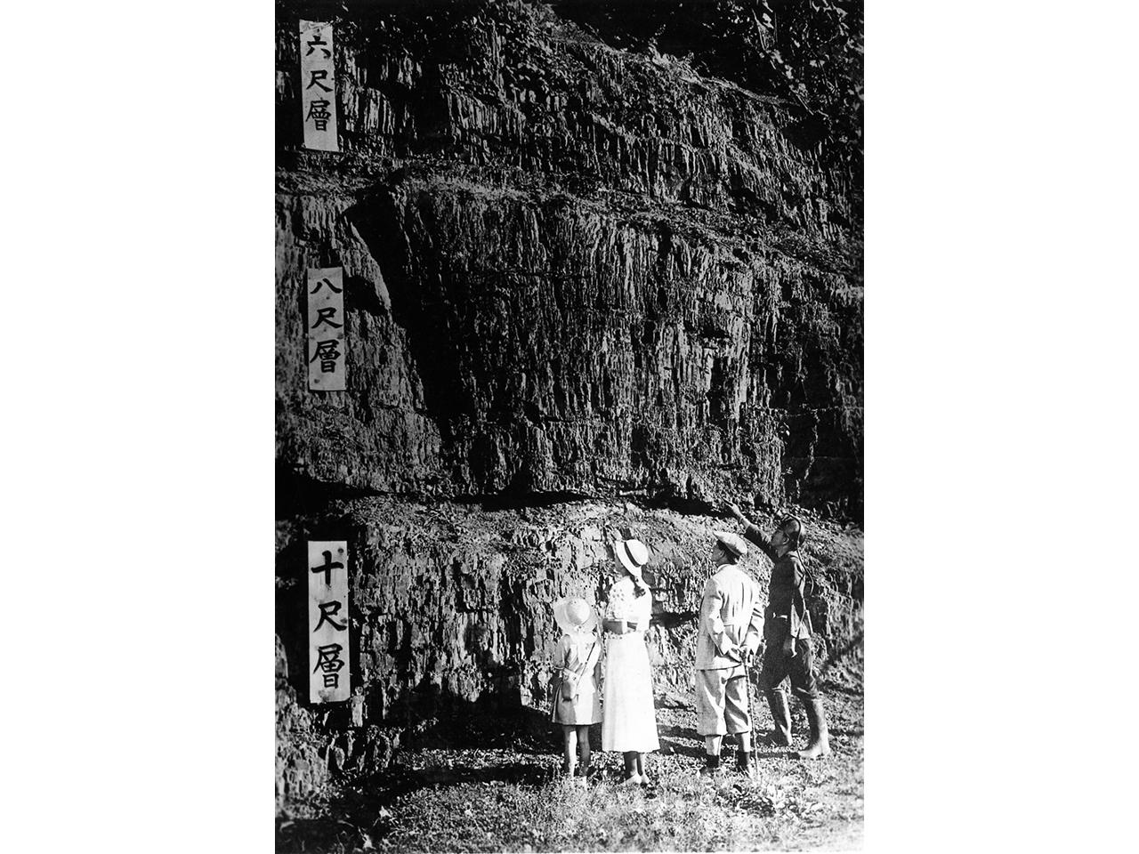 画像:夕張の石炭大露頭「夕張24尺層」(3)