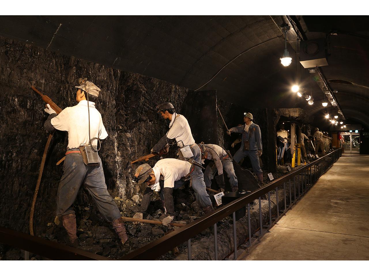 画像:旧北炭夕張炭鉱模擬坑道(夕張市石炭博物館)(2)