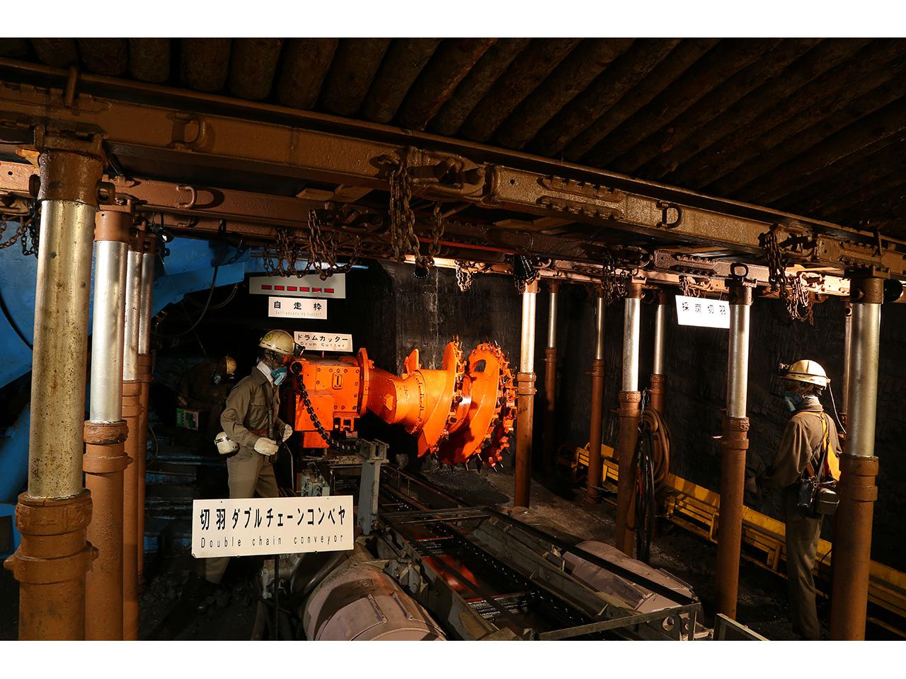 画像:旧北炭夕張炭鉱模擬坑道(夕張市石炭博物館)(3)