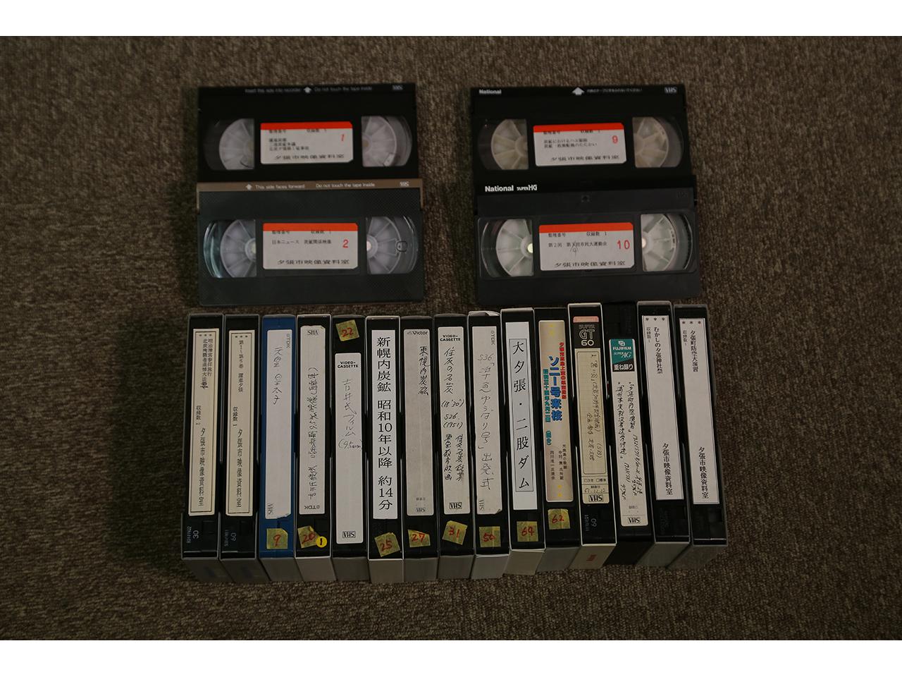 画像:夕張の映像(VHS-1)