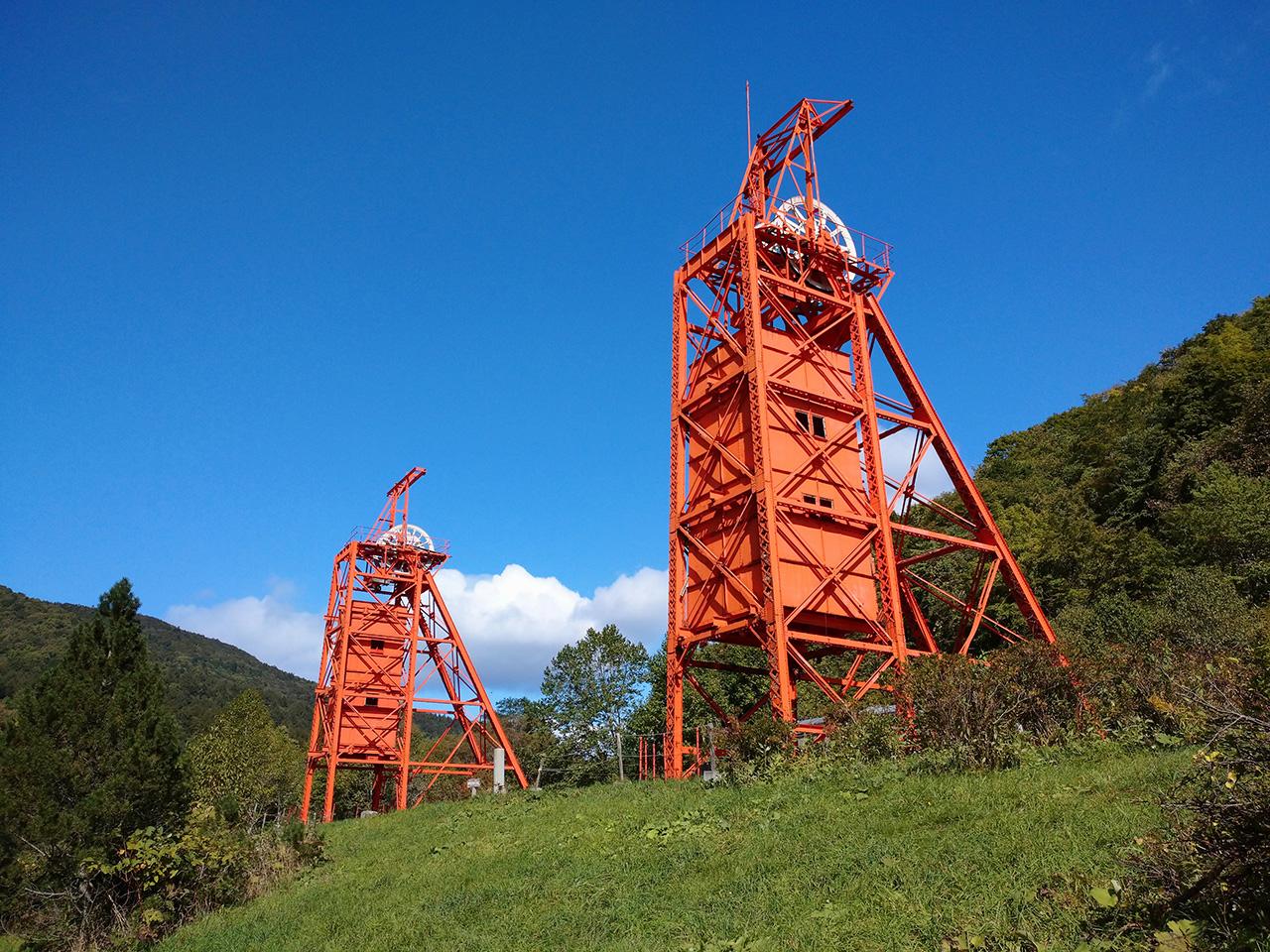 画像:三菱美唄炭鉱竪坑櫓(1)
