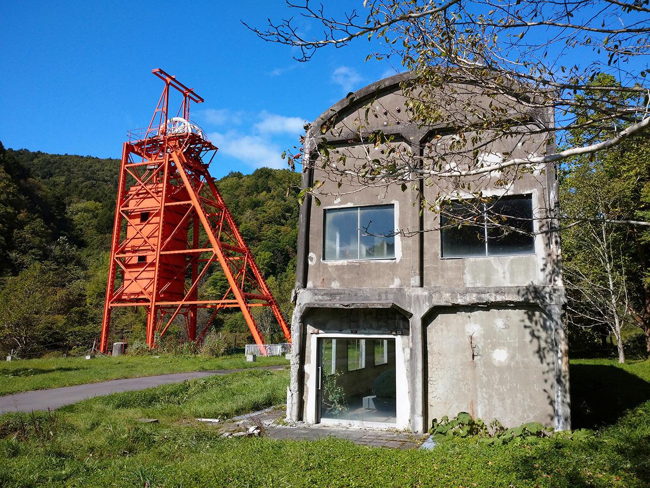 画像:三菱美唄炭鉱竪坑櫓(2)
