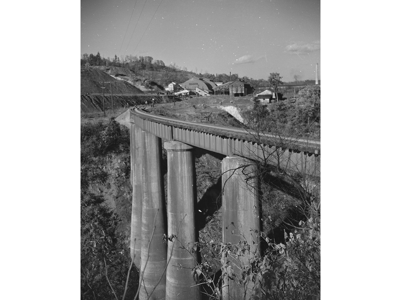 画像:旧三井芦別鉄道炭山川橋梁(5)