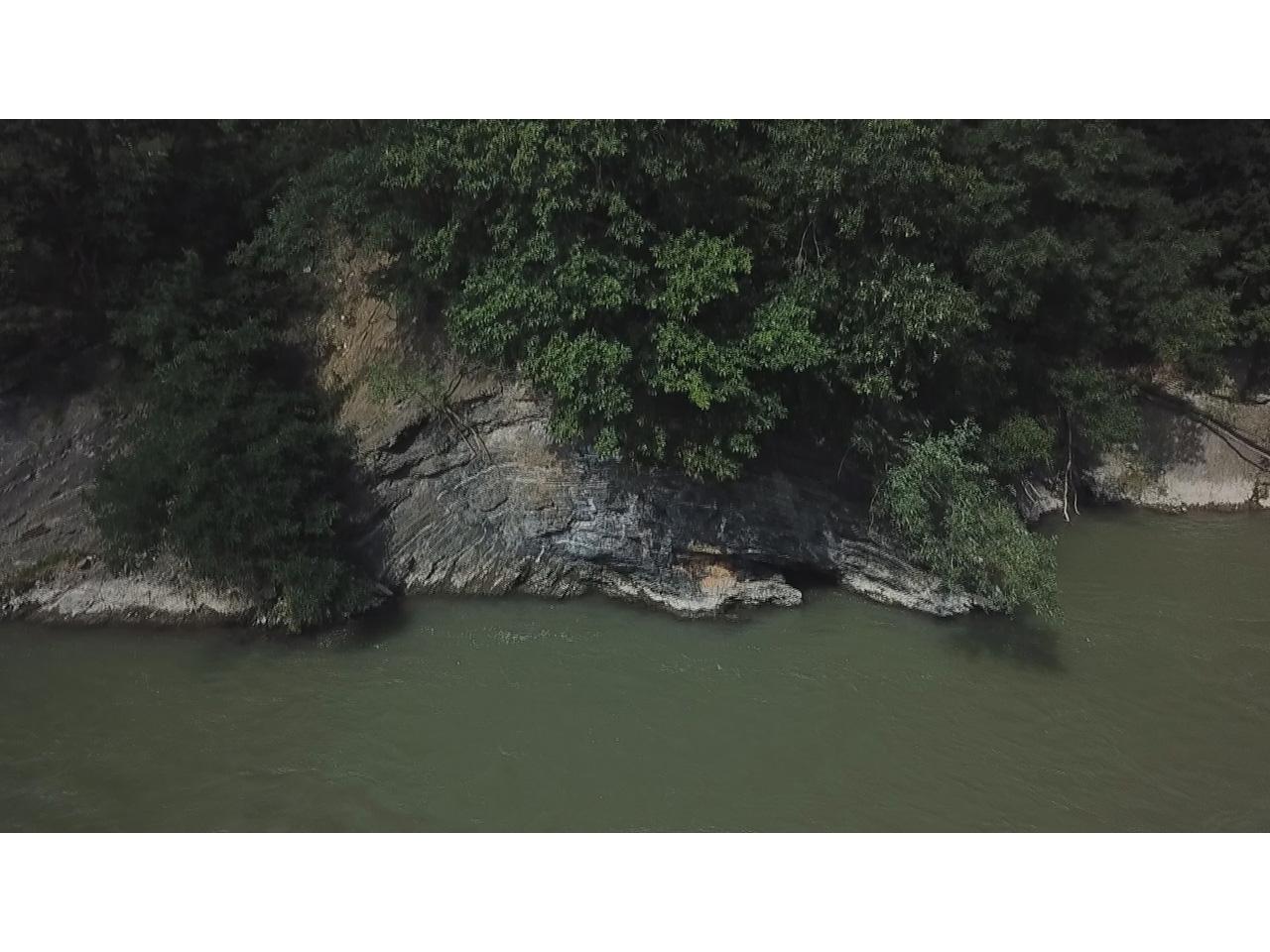 画像:空知川露頭炭層